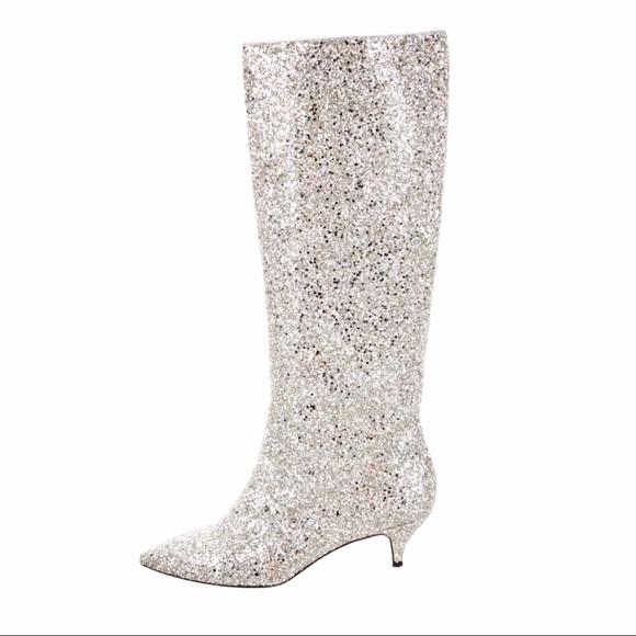 b562b1ba9 kate spade Shoes - Kate Spade Olina Glitter Kitten Heel Boots Size 8